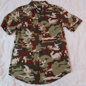 Men's XS camo button up